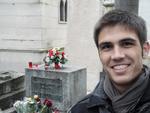 """""""Túmulo de Jim Morrison no cemitério Père Lachaise em Paris"""""""