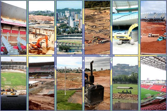 GRÁFICO: veja o ranking dos estádios do Brasil que sediarão jogos da Copa 2014 Arte ZH Online/