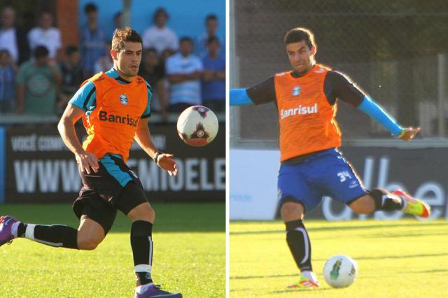 Luxemburgo fecha treino e mantém dúvida no ataque diante do Palmeiras Montagem sobre fotos Lucas Uebel, Divulgação/