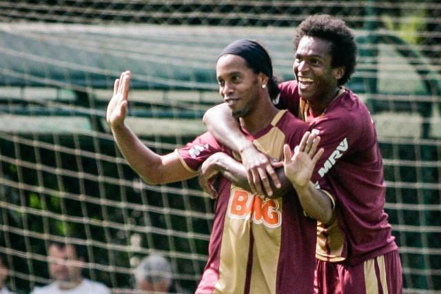 Feliz de novo: Ronaldinho respira novos ares no Atlético-MG  Bruno Cantini,CAM/Divulgação