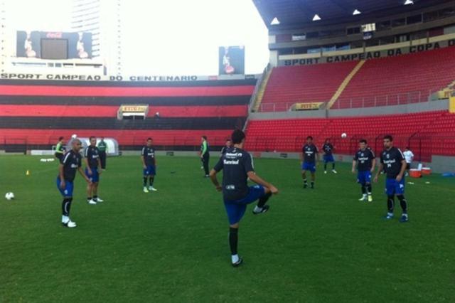 Grêmio faz último trabalho antes de enfrentar o Náutico pelo Brasileirão Vítor Rodriguez/Grêmio/Divulgação