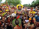 Houve ainda um protesto de indígenas no Rio de Janeiro durante o dia de abertura do evento