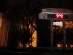 Primeira noite do inverno 2012 em Cambará do Sul, onde termômetro de rua marcou 9ºC