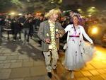 Pessoas entraram no clima das festas juninas