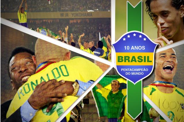 Baixe a foto comemorativa dos 10 anos da conquista do penta pelo Brasil Arte ZH/