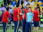Time espanhol, de Xavi (de azul), fez boa Eurocopa e chega à final otimista