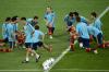 Espanha aquece no campo do Estádio Olímpico de Kiev