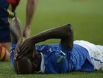 Mario Balotelli, atacante da itália, sofreu com a derrota