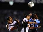 O Grêmio teve mais iniciativa no jogo, mas o Atlético-MG foi firme na marcação