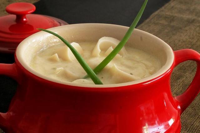 Palmito no prato de sopa Ver Descrição/Ver Descrição