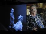 Em um dos momentos de emoção da cerimônia, Ione Pacheco Sirotsky lembrou da convivência de Maurício com o neto Eduardo