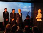 Eduardo Sirotsky Melzer, Nelson Sirotsky e Jayme Sirotsky com Fernanda Montenegro