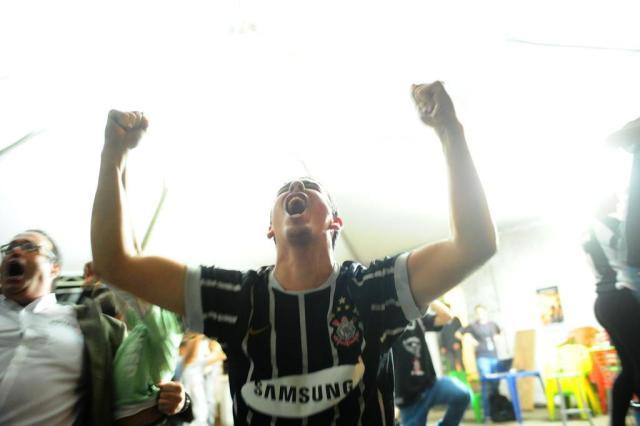 Corintianos vão à loucura em Porto Alegre com a conquista da Libertadores Jean Schwarz/Agencia RBS