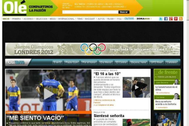Após derrota para o Corinthians pela Libertadores, Riquelme diz que não joga mais pelo Boca ole.com.ar/Reprodução