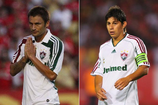 Duelo tricolor: Por Conca e Sobis, Grêmio disputa contratações com o Fluminense Montagem sobre fotos de Roberto Vinicius/AE e Diego Vara/