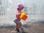 Parques aquáticos receberam muitas pessoas durante a onda de calor