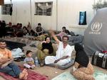 Os refugiados se abrigaram de forma improvisada na Jordânia
