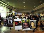 Escoltado pela Brigada Militar (BM) e pela Empresa Pública de Transporte e Circulação (EPTC), o grupo foi até o aeroporto Salgado Filho