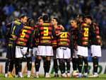 Técnico Vagner Mancini foi com: Magrão; Moacir, Edcarlos, Bruno Aguiar e Reinaldo; Tobi, Rithely, Renan e Marquinhos; Felipe Azevedo e Gilberto