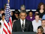 Em evento na Flórida, o presidente dos Estados Unidos, Barack Obama, respeitou um minuto de silêncio em homenagem às vítimas