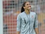 Hope Solo, goleira da seleção norte-americana de futebol feminino.