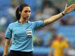 Jesica di Iorio, árbitra de futebol feminino, da Argentina.