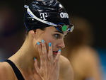 Nadadora húngara Suzana Jacobs, no centro aquático de Londres