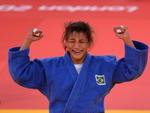 A vitória sobre a romena foi a quinta de Sarah Menezes na Olimpíada