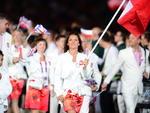 Agnieszka Radwanska foi porta-bandeira da Polônia e é uma das belas da Olimpíada