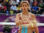 A alemã Laura Ludwig é uma das musas do vôlei de praia