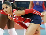 Brenda Castillo, da República Dominicana, joga vôlei