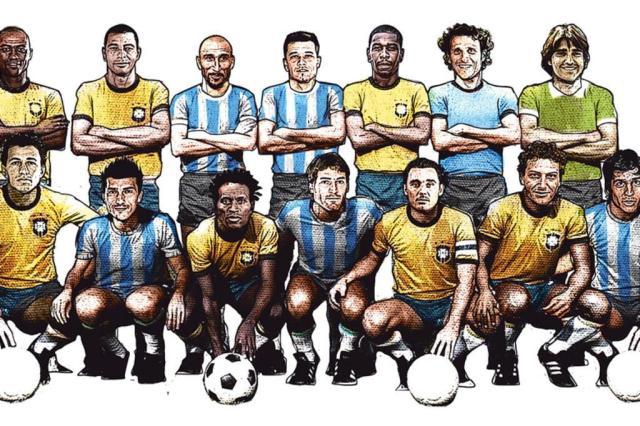 Dupla tem 14 jogadores já convocados por Brasil, Argentina, Uruguai ou Bolívia Repdrução/ArtesZH