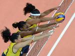 Vôlei femininino brasileiro venceu a China por 3 sets a 2