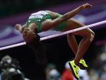 Nigeriana Uhunoma Osazuwa no salto em altura do heptatlo