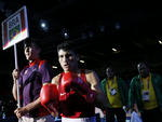Pugilista brasileiro Juliao Henriques Neto, que acabou derrotado pelo portorriquenho Jeyvier Cintron Ocasio e foi eliminado da Olimpíada