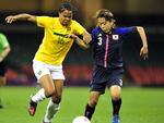 Brasil enfrentou o Japão nas quartas de final do futebol feminino