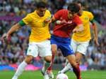 Brasil dominou partida a partir da metade do primeiro tempo