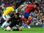 Romulo abriu o placar na semifinal da Olimpíada de Londres
