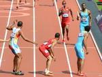 Prova de revezamento 4x400m no atletismo masculino