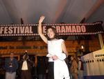 Chegada da atriz Betty Faria ao 29º Festival de Cinema de Gramado (2001)