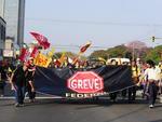 Servidores federais fizeram vários protestos pelo Brasil. Em Porto Alegre, os protestos foram na Padre Cacique nesta quinta-feira