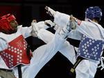 Brasileiro Diogo Silva venceu Mohammad Abulibdeh, da Jordânia, nas quartas de final do taekwondo na categoria até 68kg