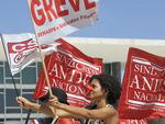 Em Brasília, os protestos dos servidores federais foram na Praça dos Três Poderes, em frente ao STF