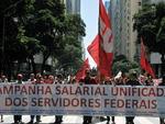 Segundo os servidores federais, os protestos e paralisações mobilizaram 350 mil trabalhadores no país