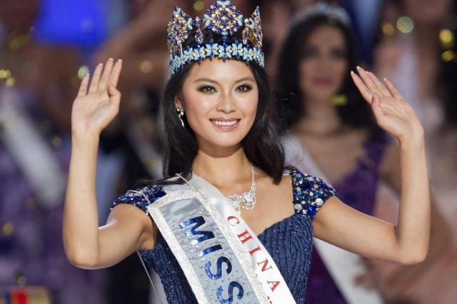 Representante da China vence o Miss Mundo 2012 Andy Wong/AP
