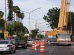 A previsão é que o bloqueio parcial da Avenida Padre Cacique acabe domingo, às 21h.