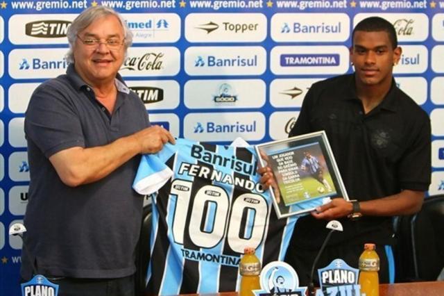 Grêmio homenageia Fernando e André Lima por 100 jogos no clube Grêmio/Divulgação