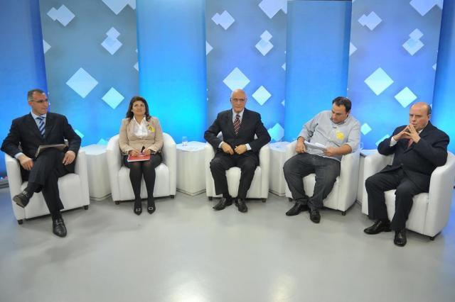 Candidatos a prefeito de Santa Maria participam de debate na TVCOM Jean Pimentel/Agência RBS