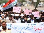 No Iraque, o protestos ocorreram no sul da cidade de Basra