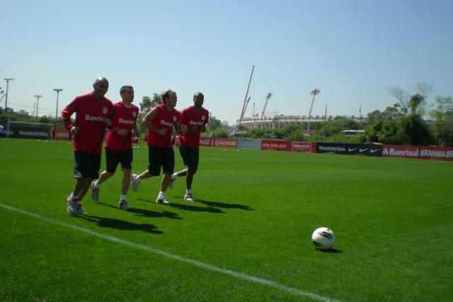 FOTO: Inter faz treino físico logo após a chegada a Porto Alegre André Baibich/